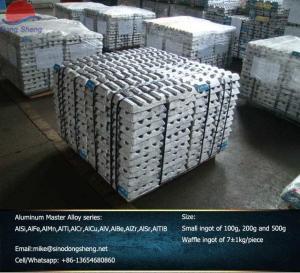 Buy cheap AlSi AlMn AlFe AlCr AlTi  AlCu AlZr AlSr AlTiB  Aluminum Master Alloy Hardeners manufacturer from wholesalers