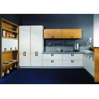 Pure White Laminate Kitchen Cupboards , Stainless Steel Commercial Kitchen Cabinets - 106490549
