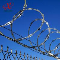 Buy cheap Farm / Airport Razor Blade Barbed Wire With Electric Or Hot Dipped Galvanized Surface Treatment product
