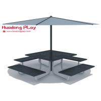 Buy cheap Beautiful Black Cast Iron Garden Bench Multi Seat For  Playground Public Area product
