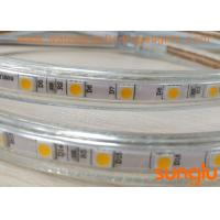 China Warm White Waterproof LED Rope Lights 110V WW 5050 60D With Epistar Chip on sale