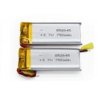 Buy cheap High Safety Small Lithium Polymer Battery Pack 3.7V 750mAh 852045 For Speaker from wholesalers