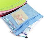 Buy cheap Double Layer Nylon Mesh Transparent Zipper Pencil Bags , File Document Bag product