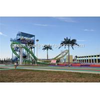 Quality Outdoor Kids Water Play Aqua Park Equipment Amusement Ride / Water Slides For Pools for sale