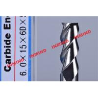 Buy cheap HRC50 Aluminum End Mill Cutter / Hss End Mill Bright Surface 6mm 8mm 3 Flute product