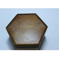 Buy cheap Dark Solid Wood Standing Jewelry Box , Gift Wood Hexagon Shaped Box product