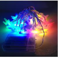 China home decorating ideas battery Powered RGBY star string lights on sale