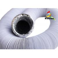China Black And White Fire Rated Flexible Ducting , Round PVC / Aluminum Foil Combine Duct wholesale