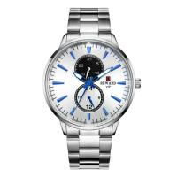 Quality PVD Coating Color Mens Stainless Steel Chronograph Watches , Metal Mens Watches for sale