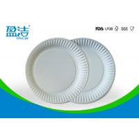 Buy cheap Small Size Bulk Paper Plates , Plain White Paper Plates Without Printing product