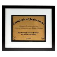 "China Modern Style Black And White Document Frame To Hold 8 1/2"" x 11"" Certification on sale"