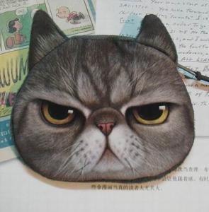 Buy cheap El bolso animal de la moneda de la impresión del modelo, el gato vivo y la cara del perro imprimen el bolso de la moneda, bolso precioso de la moneda del regalo. product
