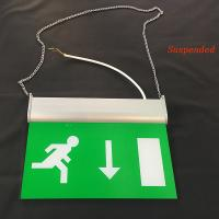 China Rechargeable Battery Powered Led Emergency Double Sided Exit Signs 110V - 127V wholesale