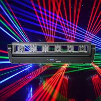 Buy cheap Dj Lights 6 Eyes 500mw RGB 3in1 Full Color Moving Head Laser Light Bar Crutain product