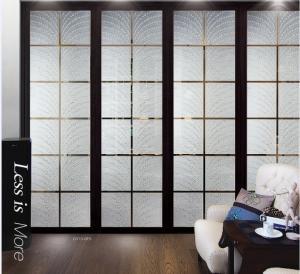 Buy cheap カーテン・ウォールのための現代内部の装飾的なガラス ドア/半透明なガラス ドアのパネル product