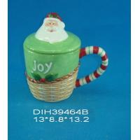 Buy cheap Fashionable Xmas Custom Ceramic Mugs With Lid Personalised Santa Clause Cover product