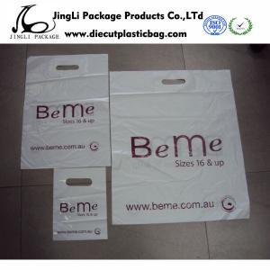 Buy cheap Die-cut Cosmetic Plastic handle bag printing plastic grocery bag environmental product