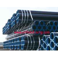 China api steel line pipe API 5L ASTM A53 A106 WITH BLACK COATING BEVELLED ENDS AND CAPS on sale