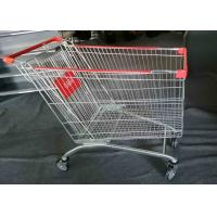 China Grocery Foldable Shopping Cart , 4 Wheel Shopping Trolley Powder Coated on sale