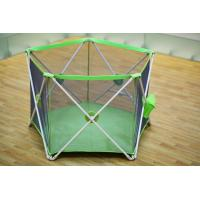 Buy cheap Light Weight Fold Down Security Babies Play Yard / Green 5 Panel Play Yard product