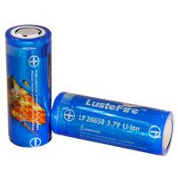 China Lustefire 26650 5000mAh 3.7V rechargeable lithium ion battery, flashlight li-ion charge batteries wholesale