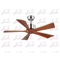 Buy cheap East Fan 42 inch five nature wood blades brushed nickel modern ceiling Fans without light product