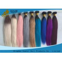 Buy cheap 100% Human Colored Virgin Hair Extensions Full Cuticle Hair Weave product