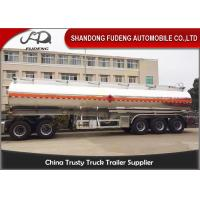 Buy cheap 5 Compartments Aluminum Tank Semi Trailer , Petroleum Tank Trailers 50000 Liters product