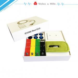 Buy cheap Dispositif de surveillance d'Ecg de repos des 12 Manche/moniteur de coeur tenu dans la main basé sur le système d'IOS from wholesalers