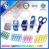 Buy cheap Transparent Plastic Mini Office Stationery Set For Students or Business product