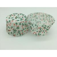 Quality Single Wall Greaseproof Cupcake Liners Cup Cake Wrappers Dim Sum Cherry and Leaf Printing for sale