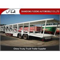 Buy cheap Double Axles Car Carrier Trailer For 9 Cars Transport Steel Material product