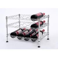 Mini Wine Rack Metal Display Shelf Carbon Steel Material Size: 45*30*32CM