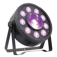 Buy cheap 9+1 High Brightness 30W RGB 3in1 LED Wash Disco Party Stage Plastic Flat Par Lights product