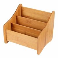 Small Bamboo Office Supplies Wood Desk Organizer Storage Holder For Pen