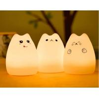Buy cheap USB Charge Carton Silicone Night Light Multicolor Cute Cat Silicone Soft Nursery Lamp product