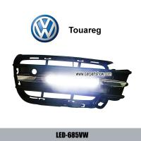 China Volkswagen VW Touareg DRL LED Daytime Running Lights Car headlight parts Fog lamp cover LED-685VW wholesale