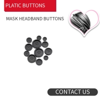 Buy cheap Black Mask Buttons 4holes / 2 holes Resin product