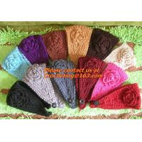 Buy cheap Women knitted headband with flower,crochet headband- Handmade tenia, Hair Accessories product