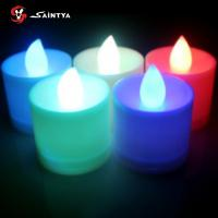 China Jumping change light LED tealight candles , ABS plastic colored tealight candles on sale