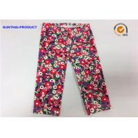 China Attractive Cute Baby Girl Leggings Abrasion Resistance With Trees / Flowers Printed on sale