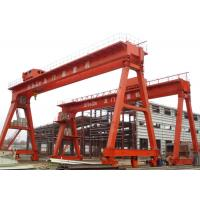 Work Yard A Frame Double Beam Gantry Crane , Rubber Tire Gantry Crane