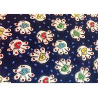 Buy cheap Blue Polyester Floral Custom Printed Fabrics Tear Proof Customized product