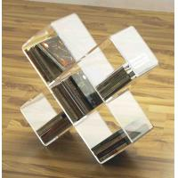 Buy cheap cross shape acrylic CD display rack with 5 compartments product