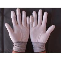 Buy cheap 13 gauge polyester liner coated pu industrial work antistatic gloves product