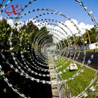 Buy cheap CBT BTO Razor Security Barbed Wire for Railway and Lawn with Single / Cross Coil product