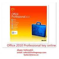 Buy cheap Office 2010 Professional Microsoft Office Product Key Codes Permanent , Activation Online product