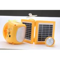 China 1.7W 9V Portable Solar Lighting System 4500mAh 2 Pcs Polycrystalline Foldable With 3M Cable on sale