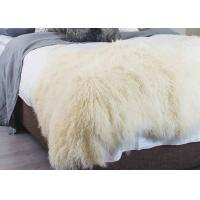 China Curly Hair Extra Large Mongolian Sheepskin Rug With Natural Tibet Lamb Skin on sale