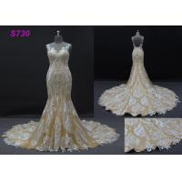 Buy cheap Champange color sleeveless sheath mermaid wedding dress bridal gown product